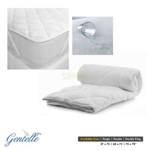 Gentelle Quilted Mattress Protector - Waterproof